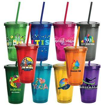 16 Oz. HDI™ Colored Oli Tumbler w/Straw