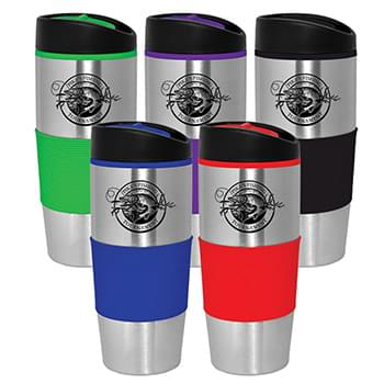 15 Oz. Vivid Stainless Travel Tumbler