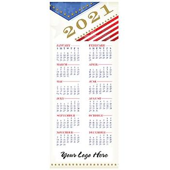 Red White Blue 2-Sided Card Calendar