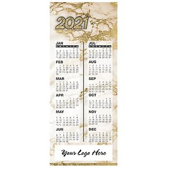 Gold Marble Magnetic Calendar