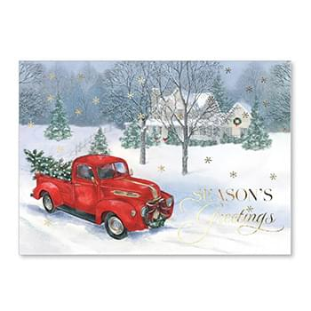 Old Fashioned Christmas Holiday Greeting Card