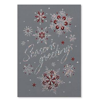 Shimmery Snowflakes Holiday Card