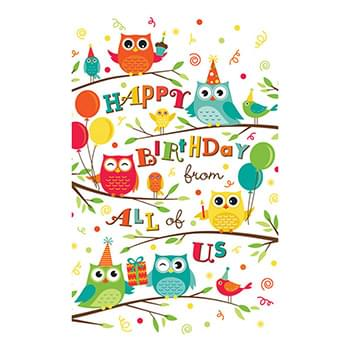 Birthday Owls Card