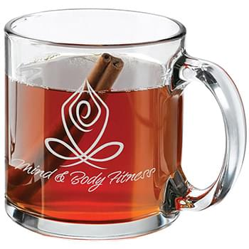 13 Oz. Glass Clear Mug