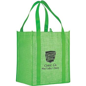 COLOSSAL TWO-TONE GROCERY TOTE